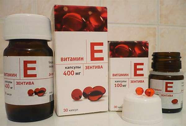 Витамин Е в капсулах — самая распространенная для употребления форма выпуска синтетического витамина Е