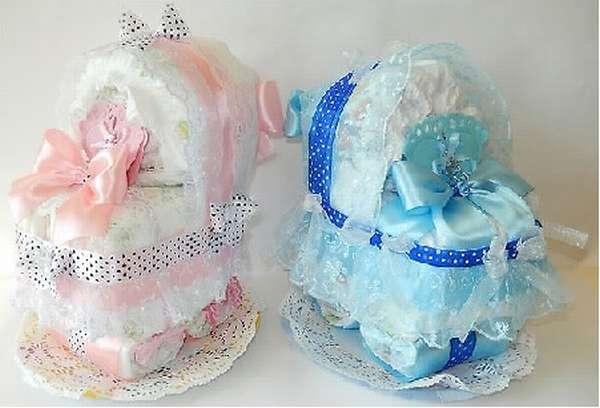 подарки для новорожденных из памперсов