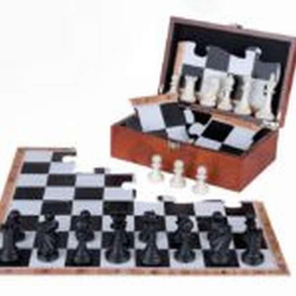 Шахматная доска в виде пазлов