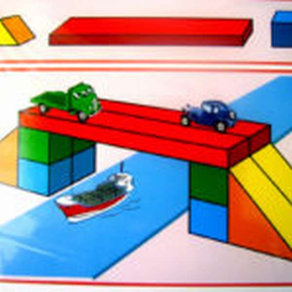 Схема моста через реку
