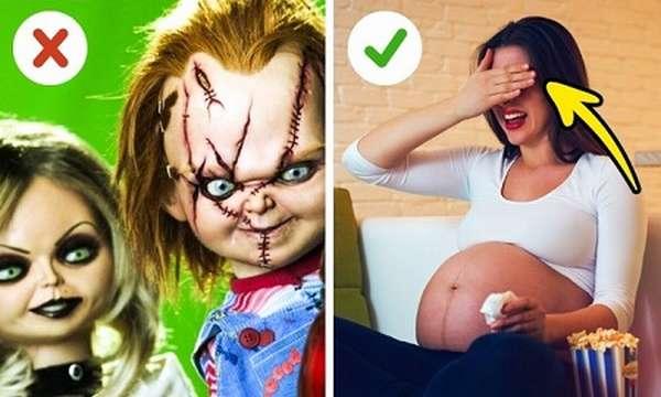 Беременной нельзя смотреть на страшные вещи