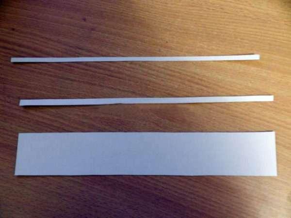 Заготовки полосок из картона