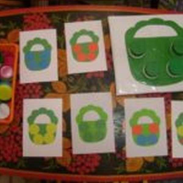 Игра с крышками «Корзинка»