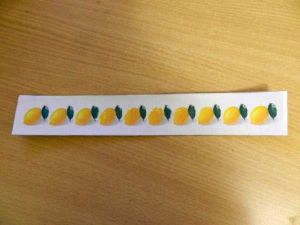 Полоска с изображением лимонов