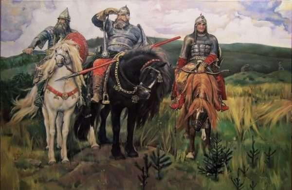Картина В. Васнецова «Три богатыря»