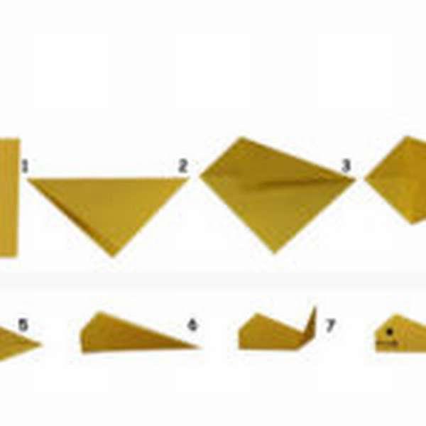 Схема оригами рыбки