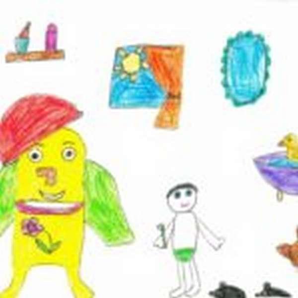 Детский рисунок Мойдодыра