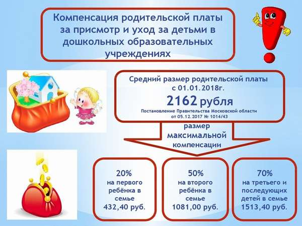 компенсация за садик за второго ребенка