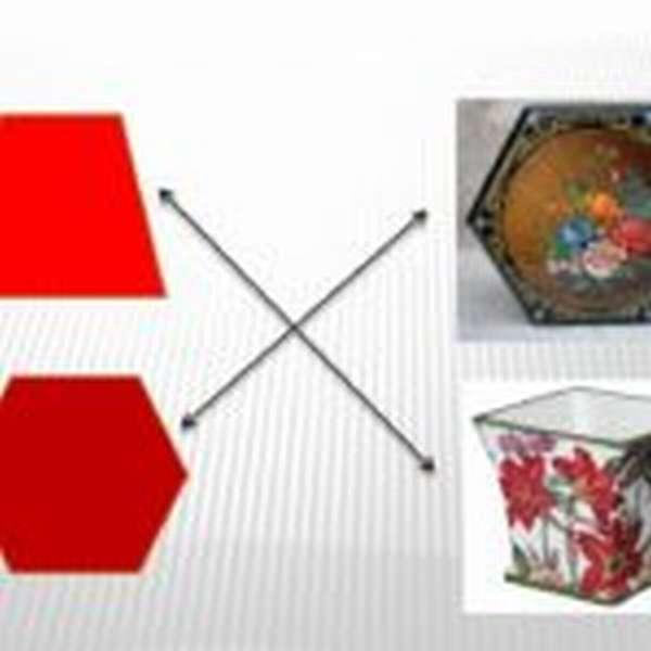 Трапеция и шестиугольник подобие предметам