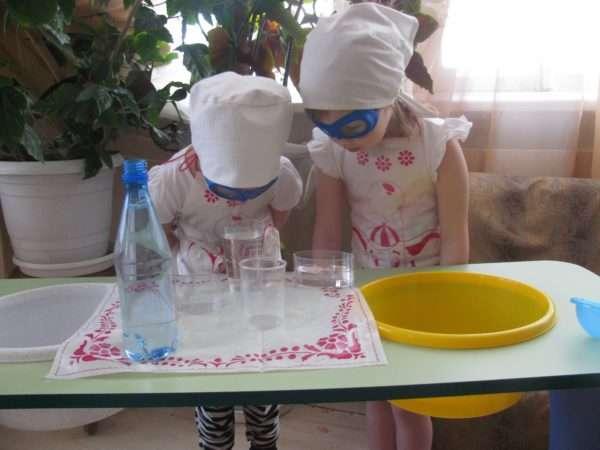 Экспериментирование с водой